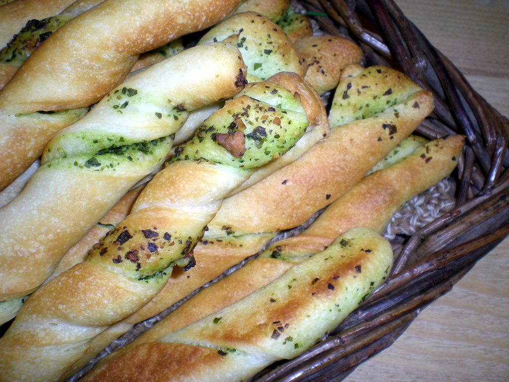 Breadsticks med friskost…