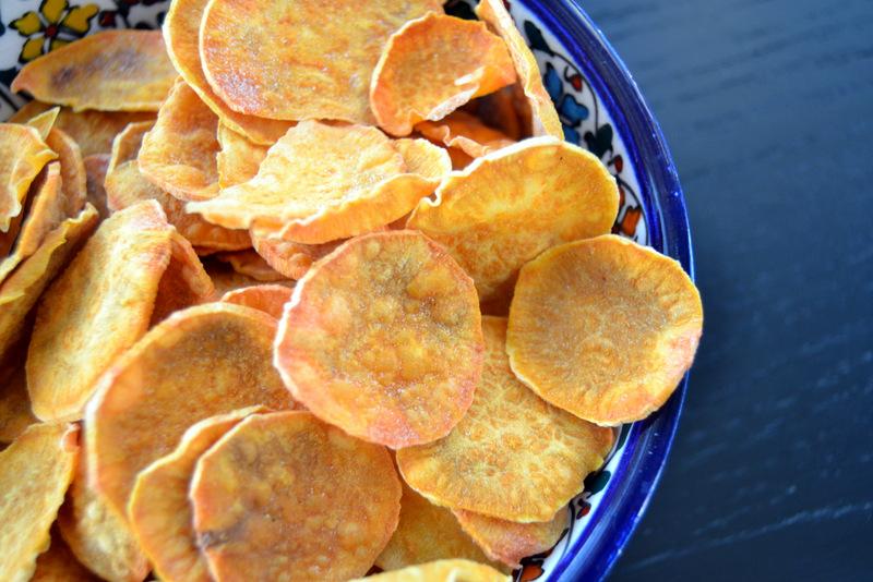 Sprøde og fedtfattige chips af søde kartofler…