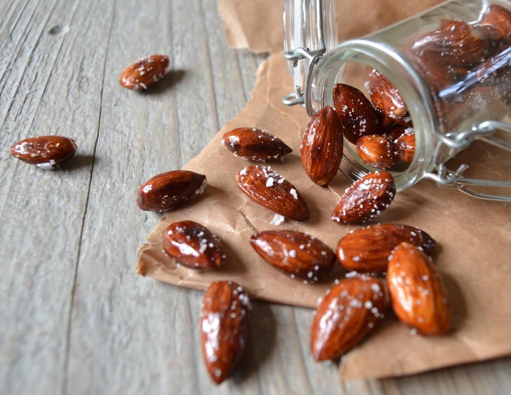 Honningristede, saltede mandler…