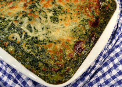 Lækker og cremet spinatlasagne…