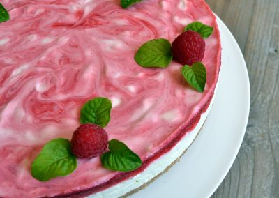 Hindbær cheesecake med lime…