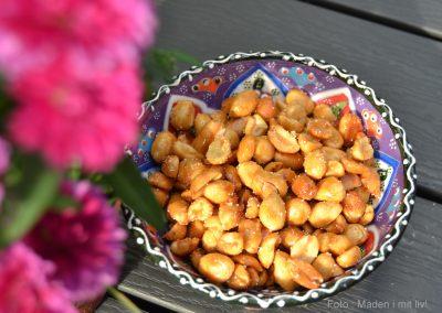 Honningristede og saltede peanuts…