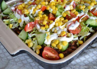 Mexicansk lasagne med salat…