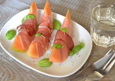 Melon med lufttørret skinke…