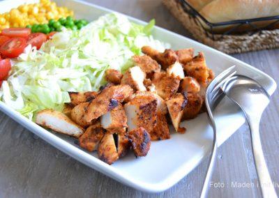 Hjemmelavet kyllingeshawarma til pita og fladbrød…