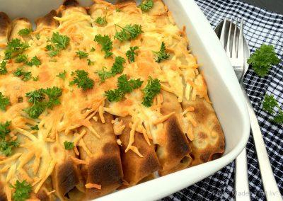 Pandekager med ost og spinatfyld…