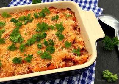 Gratineret tortellini i tomatsauce…