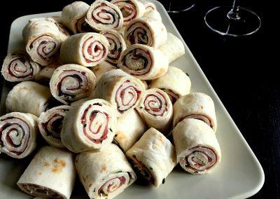 Små lækre ruller med skinke eller laks…