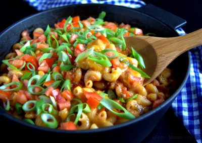 Fantastisk one pot cheeseburger pasta…