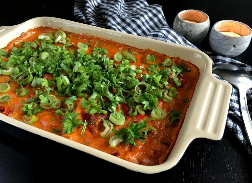 torsk i ovn med grøntsager