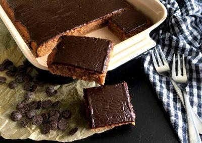 Skøn kanelkage med chokoladeganache…