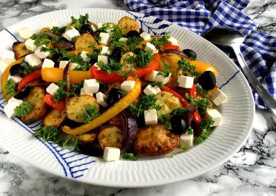 Græsk kartoffelsalat med peberfrugt…