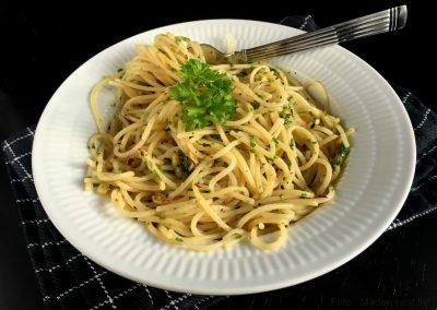Spaghetti med hvidløg og olivenolie…