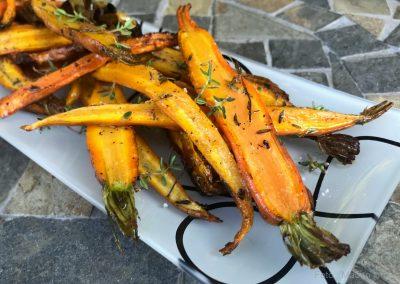 Ristede gulerødder med timian…